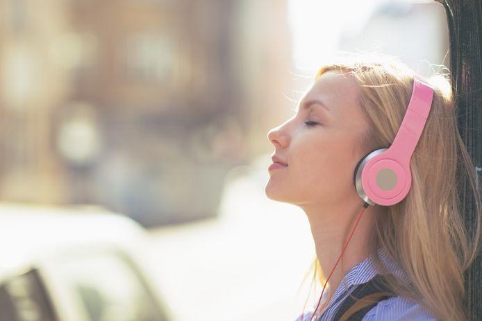 Muziek luisteren koptelefoon
