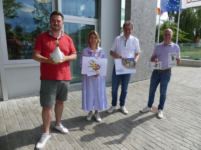 Schepenen Rutger De Reu, Sofie D'hondt en Bruno Dhaenens en burgemeester Jan Vermeulen lanceren Expeditie Donza.