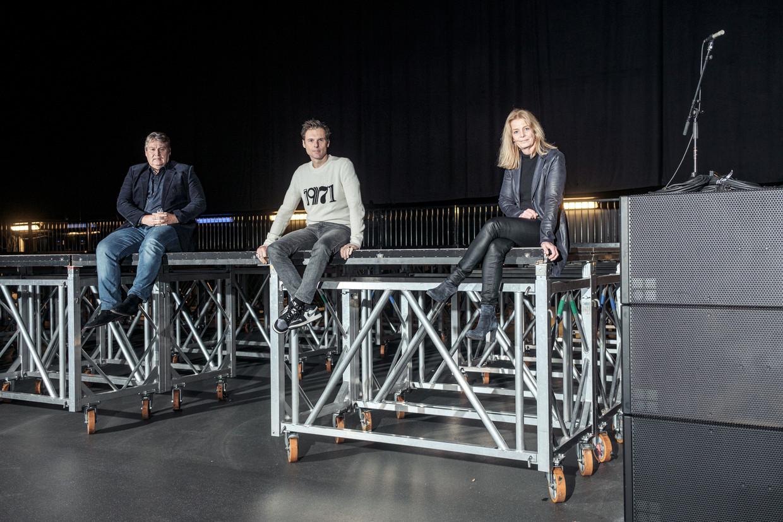 Danny Damman (links), Duncan Stutterheim en Birgitte de Winter smachten naar de gelegenheid om weer iets te organiseren. Beeld Jakob van Vliet