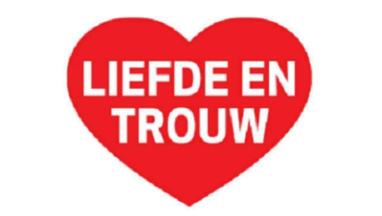De paginagrote advertentie van Kees van der Staaij, politiek leider van de SGP over het belang van liefde en trouw Beeld Trouw