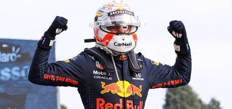 Soevereine Verstappen wint glijspektakel op Imola, Hamilton beperkt schade