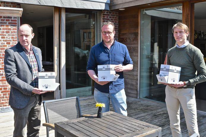 Ignace Defever, Pieter Lauwers en Dieter Verfaillie lanceerden de portieverpakkingen.