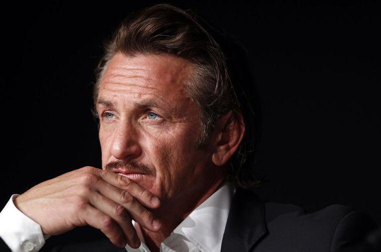 Sean Penn is een van de weinige Hollywoodsterren die naar Cannes afzakken. Hij komt er zijn film 'Flag Day' voorstellen.  Beeld rv