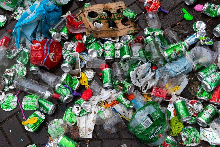 Rob Buurman: 'Er liggen zelfs nog meer blikjes dan flesjes in het zwerfafval.' Beeld ANP