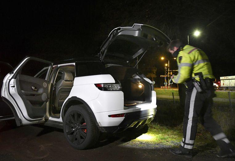 De auto op de foto is niet de auto van waaruit vuurwerk werd verkocht. Beeld ANP