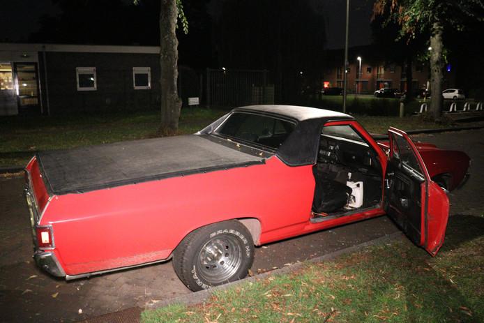 De beschadigde Chevrolet El Camino uit 1971.
