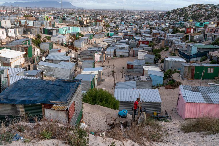 De sloppenwijken van Kaapstad. Beeld EPA