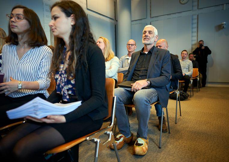 Pluimveehouders in de rechtbank in Den Haag bij een eerdere zitting.  Beeld Phil Nijhuis