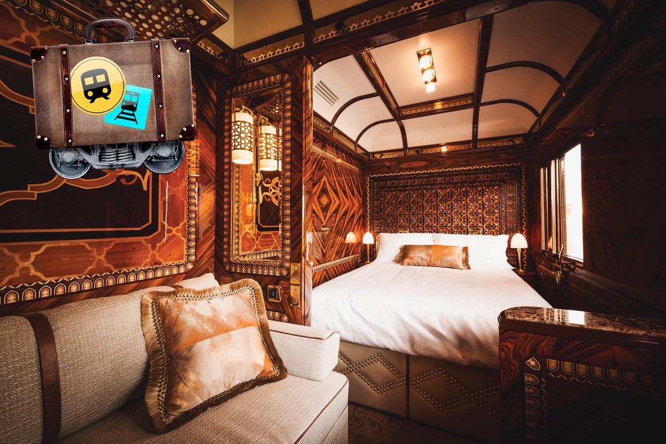 Een van de 'grand suites' in de Oriënt Express.