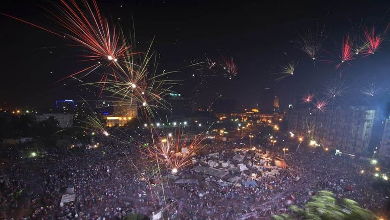 Het Tahrirplein in Caïro. Beeld AFP