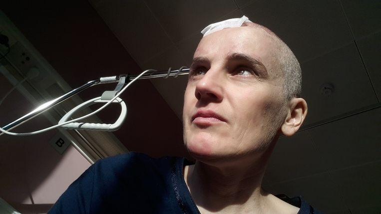 Slachtoffer Gerbrich Reynaert in het ziekenhuis. Beeld Gerbrich Reynaert