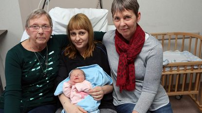 Eerstgeborene van 2018 zorgt voor viergeslacht