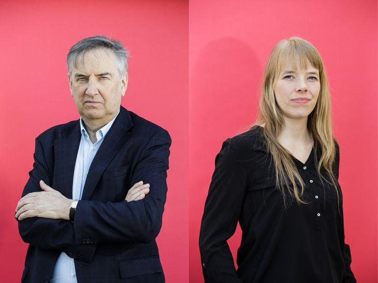 Eddy Van de Voorde en Laurien Spruyt. Beeld Bob Van Mol