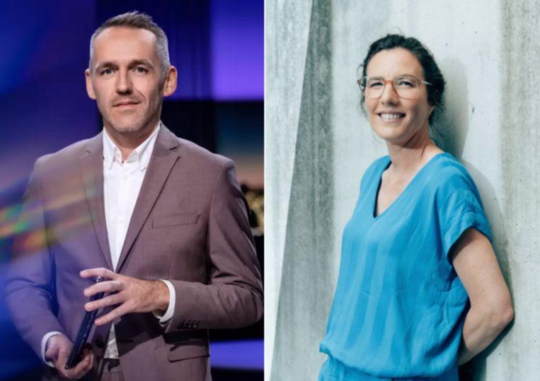 Xavier Taveirne en Leen De Witte. Beeld VRT