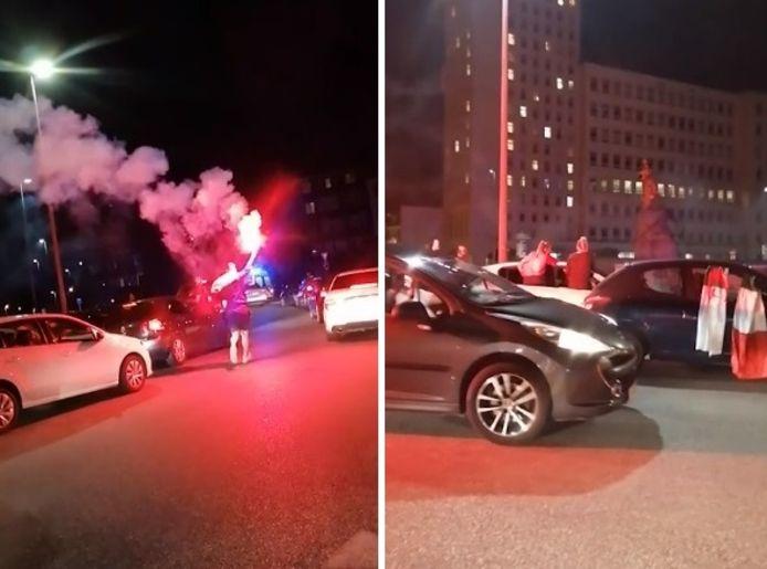 Les scènes de joie étaient nombreuses à Charleroi après la défaite de la France à l'Euro 2020