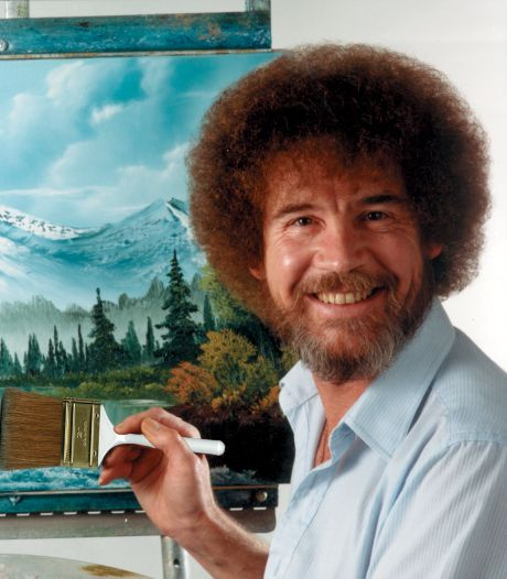 Eerste expositie ter wereld ooit van cultschilder Bob Ross bijna open