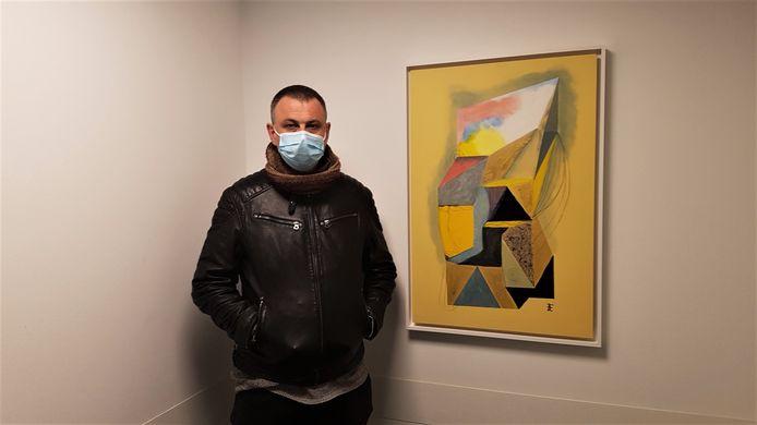 Alain Elsen uit Retie maakte een abstract kunstwerk.