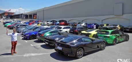 Politie Monaco houdt tientallen Ferrari's, Porsches en Lamborghini's achter slot en grendel