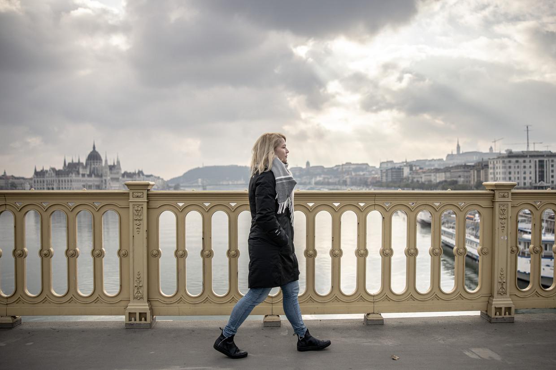 Veronika Munk is hoofdredacteur van Telex.hu, een van de laatste echt onafhankelijke nieuwsmedia in Hongarije – 'one of the last ones standing', zoals ze het zelf noemt. Beeld Akos Stiller