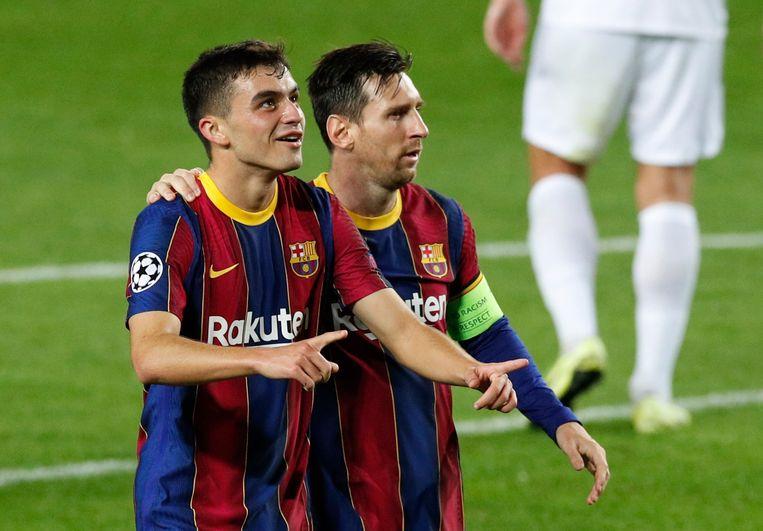 De ogen zijn op toptalent Pedri gericht, nu Messi weg is bij Barcelona. Beeld Reuters