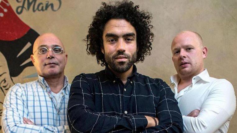 De Drie Wijzen uit Oost: Piet van der Graaf, Riad Farhat en Jason Berg (vlnr). Beeld Rink Hof