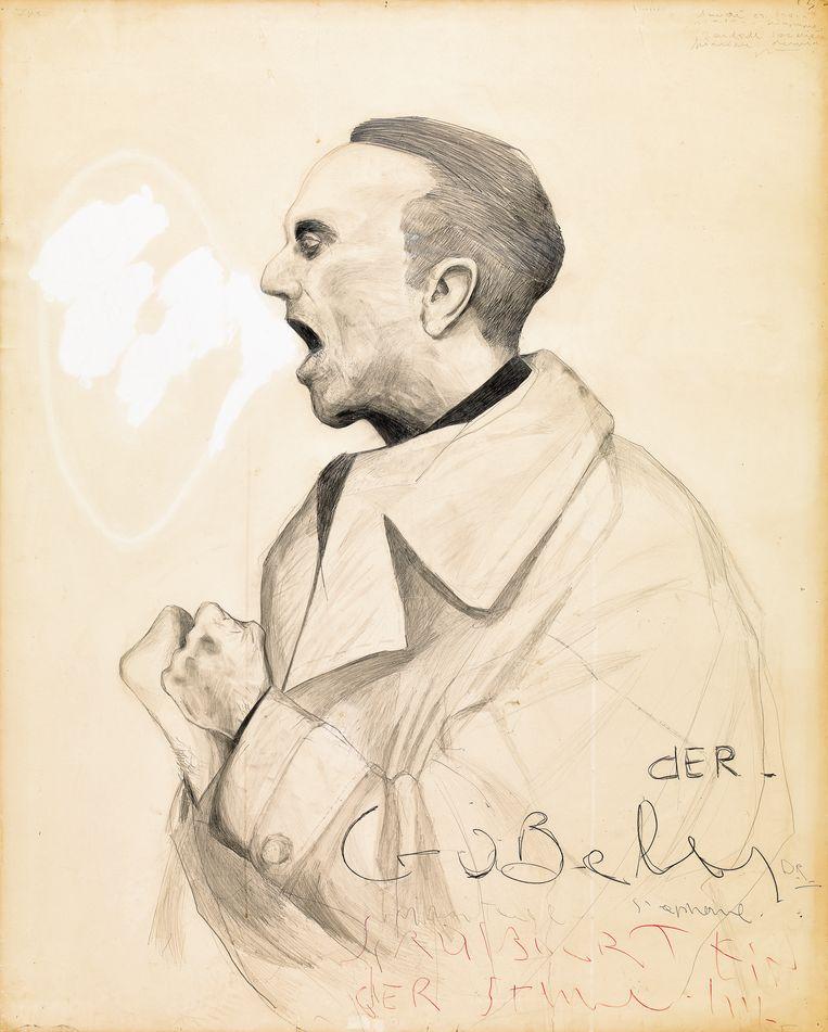 Stéphane Mandelbaum, 'Der Goebbels', rond 1980.  Beeld Philippe MIGEAT