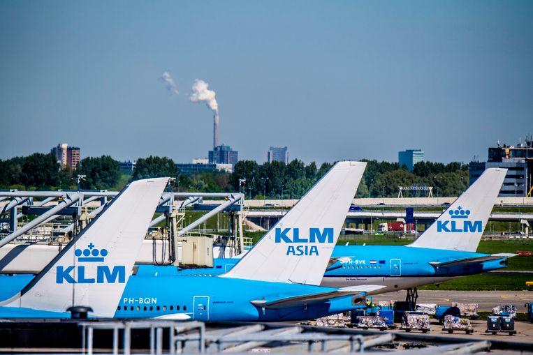 """2dbdb9849860c0 De koers van Air France-KLM kelderde flink op de beurs in Amsterdam na het  aangekondigde vertrek van topman Jean-Marc Janaillac. Beeld ANP/Robin  Utrecht. """""""