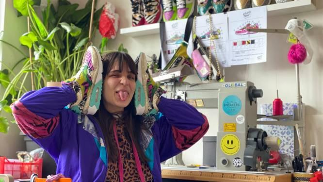 "Sanne pimpt en maakt sneakers: ""Ik werk op vraag van de klant dus elk paar is uniek"""