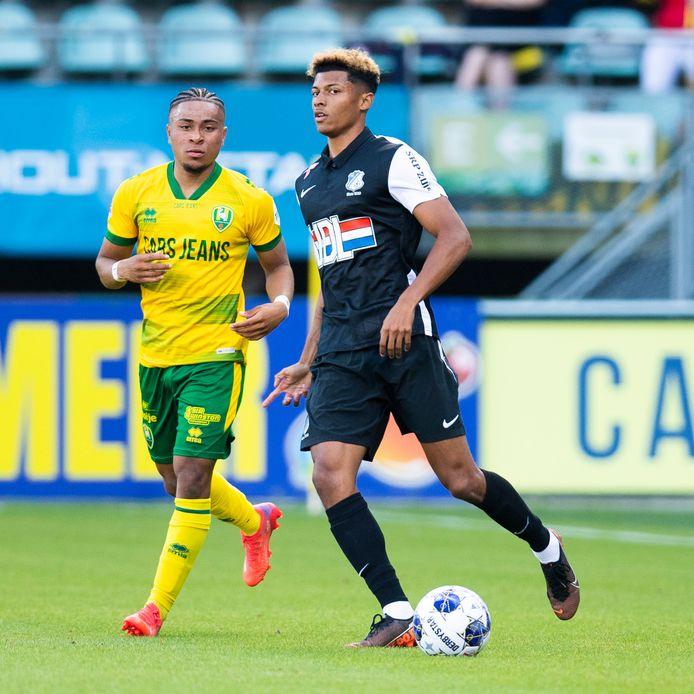 Nieuweling Charles-Andreas Brym maakte zondag zijn debuut voor FC Eindhoven