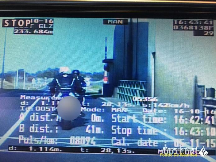 De motorrijders reden na een correctie 57 kilometer per uur te hard.