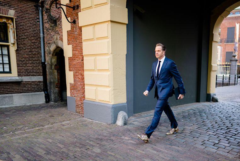Minister Hugo de Jonge van volksgezondheid op het Binnenhof.  Beeld ANP