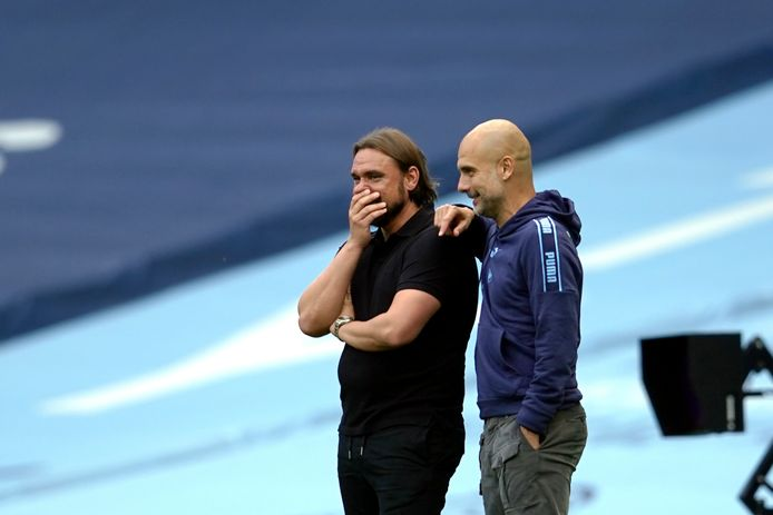 Pep Guardiola et Daniel Farke