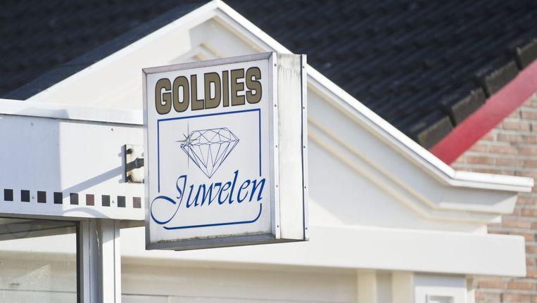 De juwelierszaak Goldies in Deurne. Beeld anp