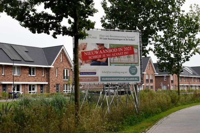 In het nieuwbouwproject Hof van Leyland in Woerden zijn weliswaar ook huurwoningen voorzien, maar deze zitten boven de sociale-huurgrens.