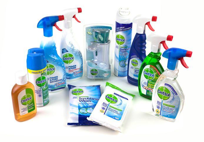 De schoonmaakproducten van Dettol.