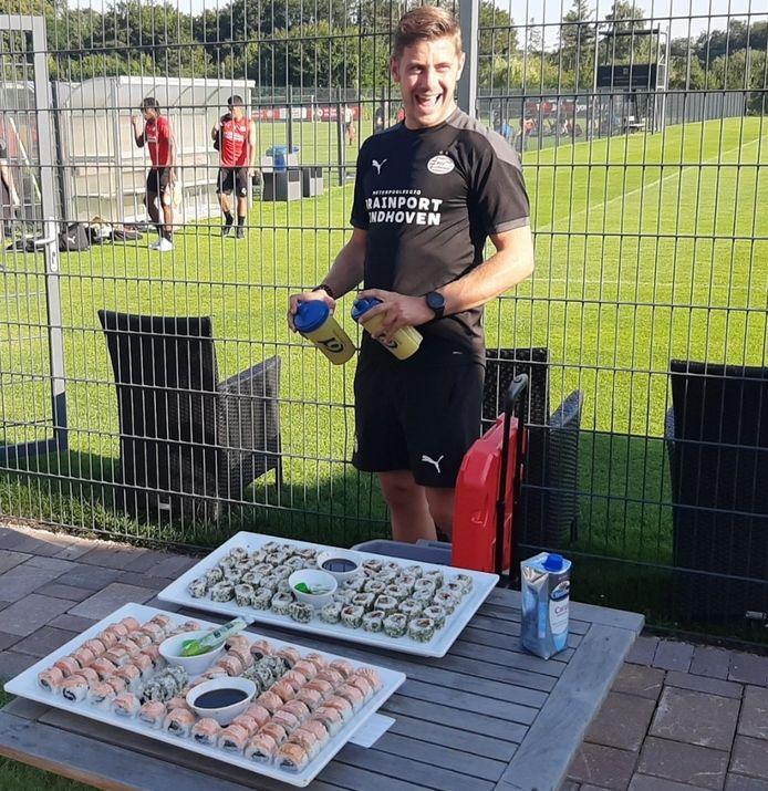 Kevin Daems is de kok van PSV tijdens bijvoorbeeld trainingskampen en uitduels.