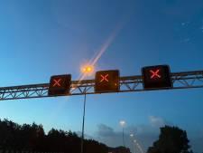 Zes auto's en motor betrokken bij ongeval op A58 tussen Moergestel en Best