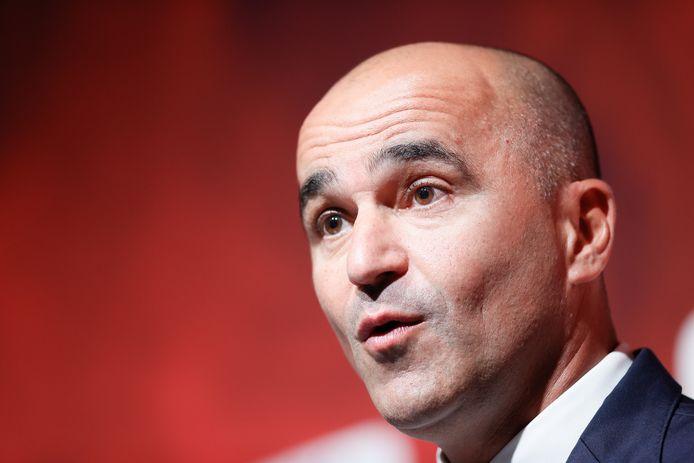 Roberto Martinez lors d'une conférence de presse à Tubize, jeudi dernier.