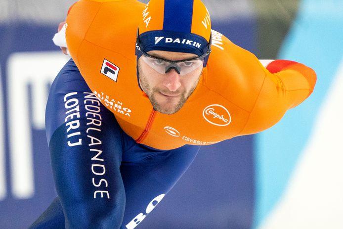 Thomas Krol was vandaag weer eens de sterkste op de 1.500 meter.