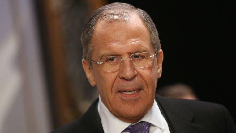 De Russische minister van Buitenlandse Zaken, Sergej Lavrov, deed opvallende uitspraken tijdens telefoongesprekken met John Kerry en Federica Mogherini. Beeld GETTY