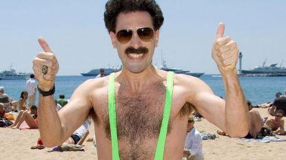 Zes mannen in de cel omdat ze een 'mankini' droegen: Borat zelve betaalt hun boete