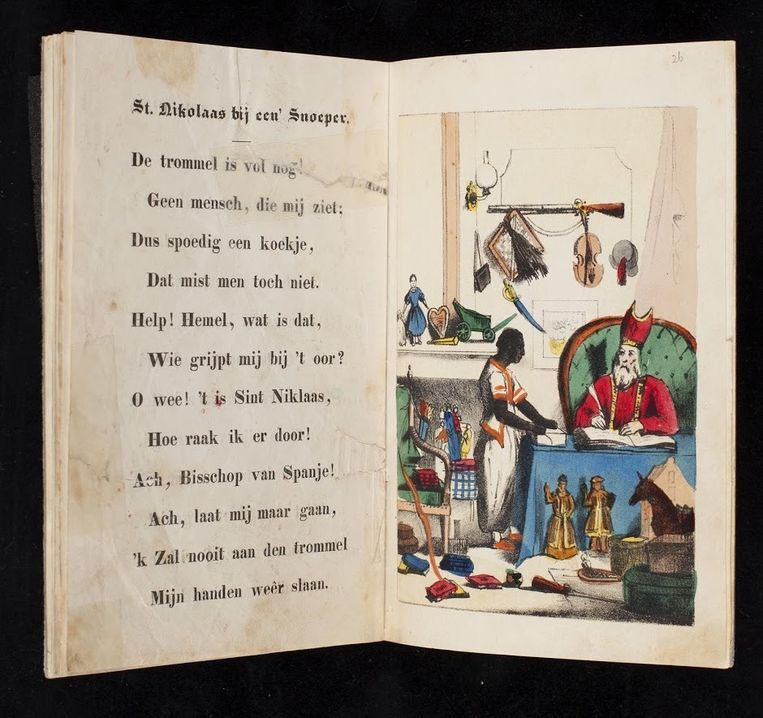Sint Nikolaas en zijn knecht, door J. Schenkman Kleurenlitho's, uitgave G. Theod. Bom, Amsterdam, 1850 Bruikleen Koninklijke Bibliotheek, Den Haag Beeld Rijksmuseum