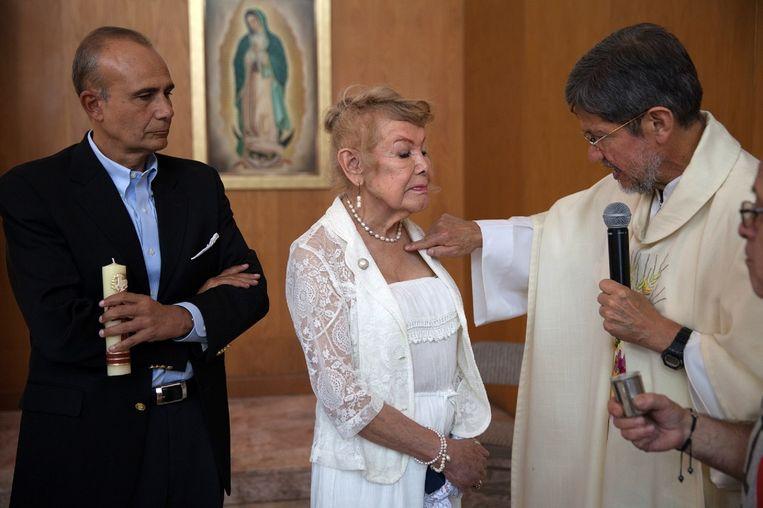 Samantha Flores werd in augustus dit jaar gedoopt in de Sagrada Familia van Mexico-stad. Beeld null