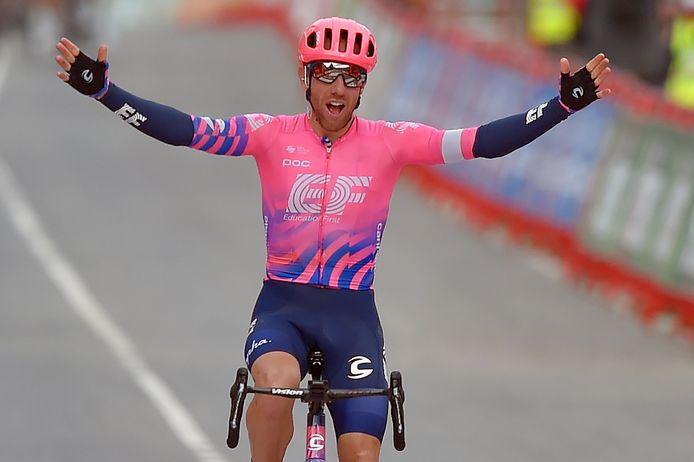 Woods bleek aan de streep de sterkste. Hij wint de tweede Vueltarit uit z'n carrière.