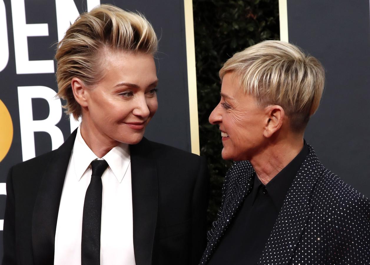 Portia de Rossi en Ellen DeGeneres.
