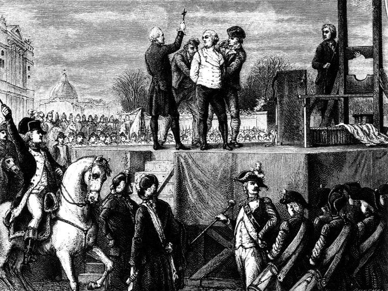 De executie van Louis XVI in 1793 in Parijs. Beeld INTERFOTO
