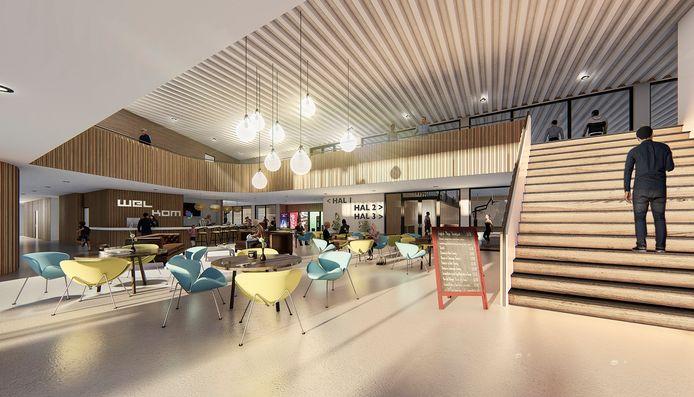 Zo zou het er straks in de hal van het totaal vernieuwde sportcomplex 't Wooldrik uit kunnen gaan zien.