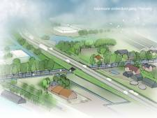 Op deze plek begint de bouw van de nieuwe randweg Waddinxveen-Boskoop