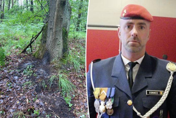 Jürgen Conings en de plaats waar zijn lichaam werd aangetroffen.