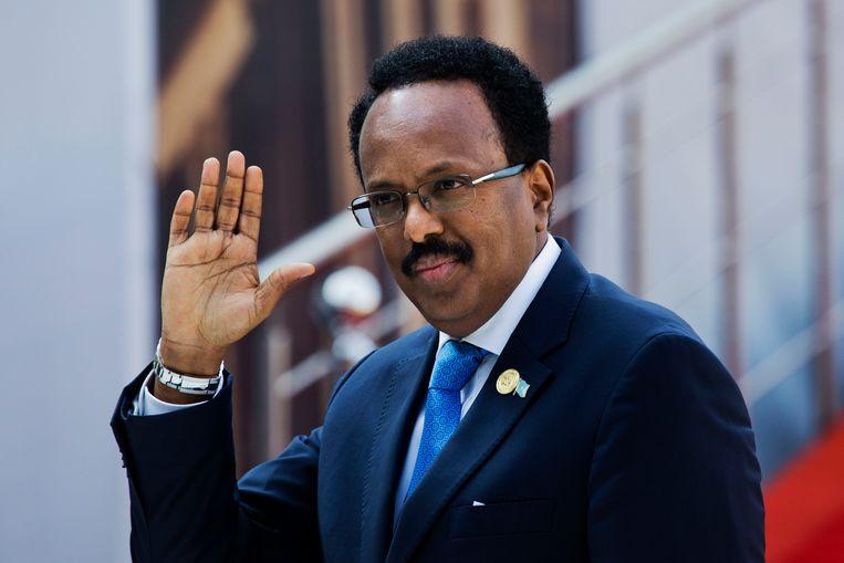 Mohamed Abdullahi Mohamed op de dag dat hij werd beëdigd als president. Beeld AP